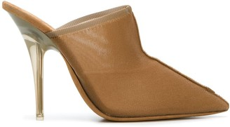 Yeezy pointed toe mules