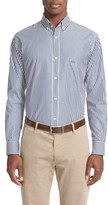 Paul & Shark Men's Regular Fit Bengal Stripe Sport Shirt