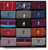 London Sock Co. - The Patterned Sartorial 15-Pack Stretch Cotton-Blend Socks