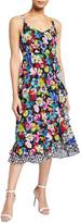 Nanette Lepore Flamenco Floral-Print Slip Dress