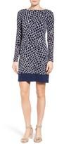 MICHAEL Michael Kors Women's Nyla Border Croc Print Shift Dress