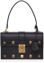 Gucci Cat Lock Leather Shoulder Bag