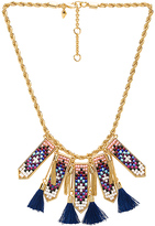 Rebecca Minkoff Catalina Statement Bib Necklace in Metallic Gold.