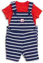Little Me Baby Boys Crewneck Tee and Overalls Set