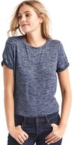 Gap Softspun knit roll-sleeve tee