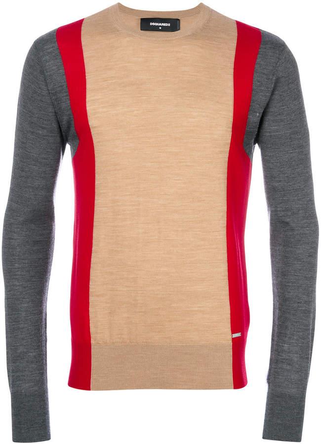 DSQUARED2 colour block jumper