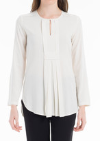 Max Studio Blouse With Pleated Yoke