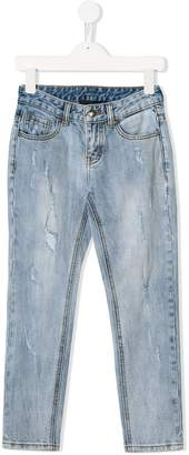 John Richmond Junior Rich print ripped slim jeans
