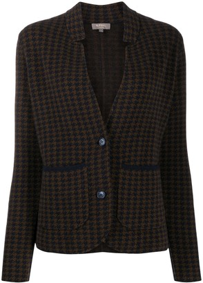 N.Peal dogtooth Milano cashmere jacket