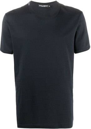 Dolce & Gabbana logo label V-neck T-shirt