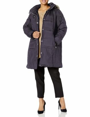 Anne Klein Women's Mid Length Down Coat Plus Size