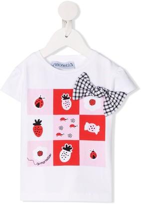Simonetta patch-work short sleeve T-shirt