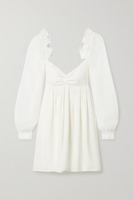 Vanessa Cocchiaro Charlotte Ruffled Crepe And Metallic Crepon Mini Dress