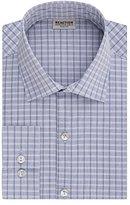 Kenneth Cole Reaction Men's Technicole Slim-Fit Check Spread Collar Dress Shirt