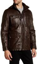 Ungaro Washed Genuine Leather Field Jacket
