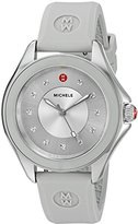 Michele Women's 'Cape' Quartz Stainless Steel and Silicone Dress Watch, Color:Grey (Model: MWW27A000016)