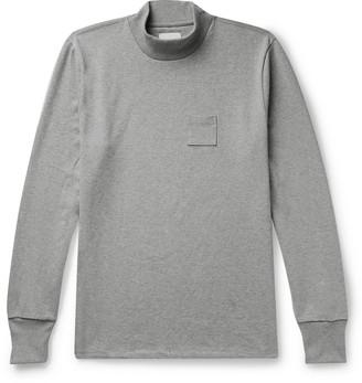 Aimé Leon Dore Melange Cotton-Jersey Mock-Neck T-Shirt - Men - Gray