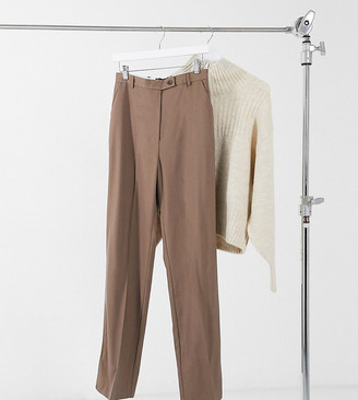 Asos Tall ASOS DESIGN Tall perfect slouch dad suit pants in mocha