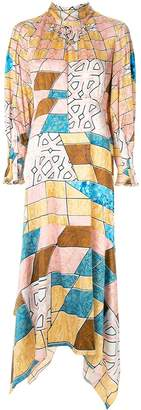Peter Pilotto geometric print maxi dress