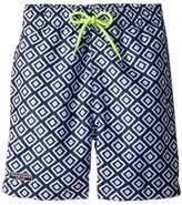 Toobydoo Blue White Patterned Swim Shorts Boy's Swimwear