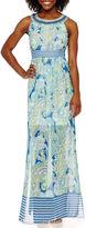 Studio 1 Sleeveless Jewel-Neck Maxi Dress - Petite