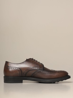 Tod's Derbies In Leather With Brogue Motif