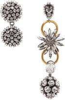 Marni Gold Strass Clip-On Earrings