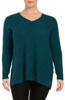 Lord & Taylor Plus Textured Cashmere Tunic
