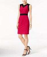 Nine West Taylor Stretch Colorblocked Sheath Dress