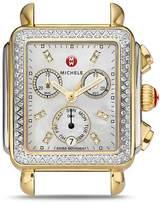 Michele Deco Diamond Two-Tone Watch Head, 33 x 35mm