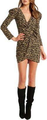 Bardot Bardo Tracey Twist Long Sleeve Minidress