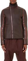 Rick Owens High collar shearling jacket