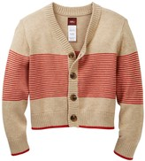 Tea Collection Leonardo Cotton Stripe Cardigan (Baby Boys)