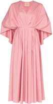 Roksanda Cape back midi dress