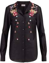 Temperley London Amity Embroidered Cotton Shirt