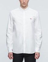 MAISON KITSUNÉ Tricolor Patch Classic Oxford Button Down Shirt