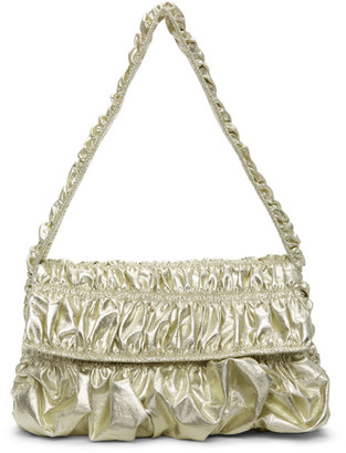 Molly Goddard Gold Ginza Baguette Bag