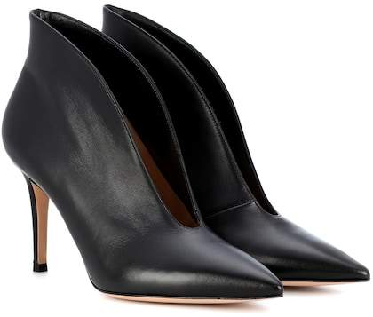 Gianvito Rossi Exclusive to mytheresa.com – Vamp 85 leather ankle boots