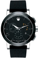 Movado Women's 'Museum' Chronograph Rubber Strap Watch, 44Mm