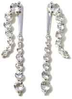 "Deb Guyot Designs Herkimer ""Diamond"" Quartz Drop Sterling Silver Jacket Earrings"