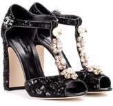 Dolce & Gabbana Sequin-embellished sandals