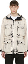 Stone Island Ecru Hand Corosion On Raso Jacket