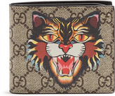 Gucci GG Supreme Angry Cat-print leather wallet