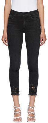 AGOLDE Black Sophie Mid-Rise Ankle Jeans