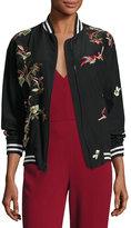 Alice + Olivia Lila Embroidered Bomber Jacket, Multicolor