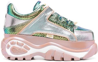 Buffalo David Bitton Iridescent Panelled Chunky Sole Sneakers