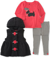 Kids Headquarters 3-Pc. Hooded Vest, T-Shirt & Leggings Set, Baby Girls (0-24 months)
