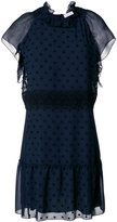 See by Chloé embroidered A-line dress