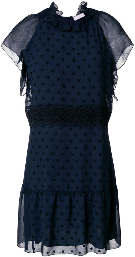 See by Chloe embroidered A-line dress