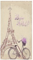 Eiffel Tower Towel New Year/Christmas Gift French Paris Amazing Eiffel Tower City Of Love Thin Soft Face Towel(One-sided Printing)